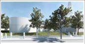 toegankelijkheid van het paviljoen via één entree